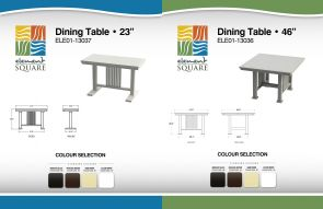 23 in & 46 in DINING TABLEs by Element Square