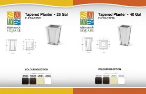 25 Gal & 40 Gal TAPERED PLANTERs by Element Square
