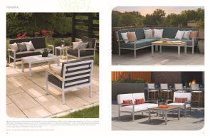 TRAVIRA (5) Sectional & Chat by Oxford Garden