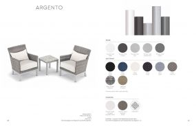 ARGENTO (4) Lounge Chairs by Oxford Garden