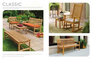 CLASSIC (1) Benches & Rocking Chair by Oxford Garden