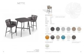 NETTE (6) Bar Chairs by Oxford Garden