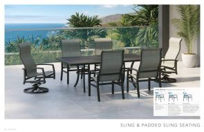 SLING & PADDED SLING SEATING By Tropitone