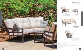 WALDEN ISLE (Aluminum) Curved Cushion Seating by Lane Venture
