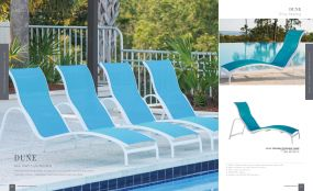 DUNE (Aluminum) Curved Sling Loungers by Lane Venture