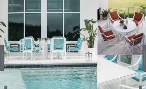 BISCAYNE BAY (Aluminum) Pool Dining by Lane Venture