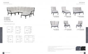 RALEIGH  (Aluminum) Sectional Seating by Lane Venture