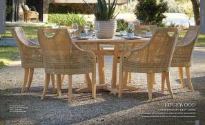 """EDGEWOOD (TEAK) 6pc Dining with 63"""" Round Table"""