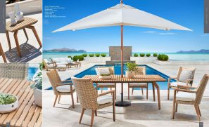 CÔTE D' AZUR (TEAK) 6pc Dining with Rect Table