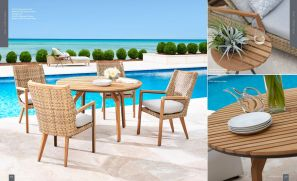 """CÔTE D' AZUR (TEAK) 4pc Dining with 48"""" Round Table"""