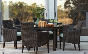 REQUISITE Woven Round 6pc Dining By Lane Venture