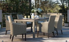 REQUISITE Woven Square 6pc Dining By Lane Venture