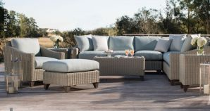 REQUISITE Woven Curved Sectional By Lane Venture
