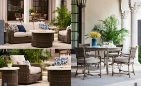 OASIS Woven Firepits & Seating for 4 By Lane Venture