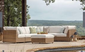 CAMPBELL (WOVEN) Curved Modular Sectional By Lane Venture