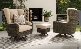 COCOON (WOVEN) High Back Lounge Chairs SIDE View By Lane Venture