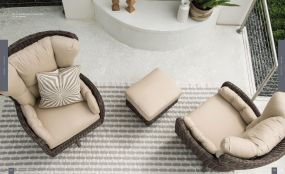 COCOON (WOVEN) High Back Lounge Chairs TOP View By Lane Venture