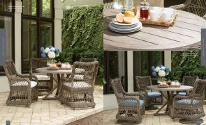 """MYSTIC HARBOR (WOVEN) 4pc Dining 48"""" Table By Lane Venture"""