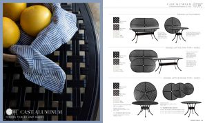 CAST ALUMINUM Dining Tales & Bases by Summer Classics