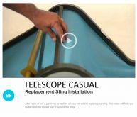 TELESCOPE CASUAL Replacement Sling Installation